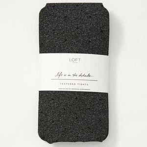 NWT Loft Charcoal Pin Dot Textured Tights